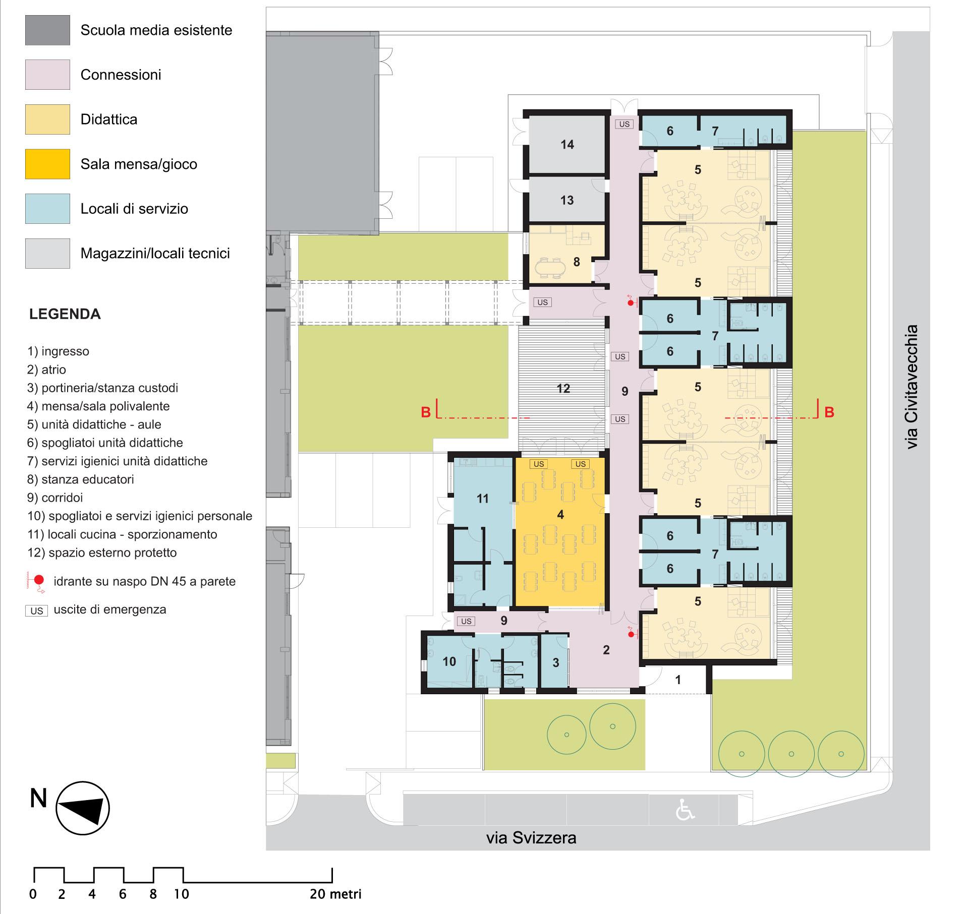 Scuola materna e scuola primaria a olbia michaelsaracino for Planimetrie dell interno della casa all aperto